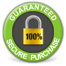 Your purchase is 100% secure, guaranteed